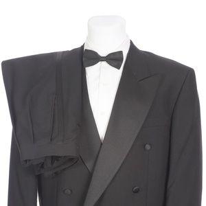 Pierre Balmain Black Wool Double Breasted Tuxedo